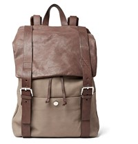 Brunello Cucinelli Full Grain Nubuck And Leather Backpack Brown