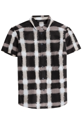 Marc By Marc Jacobs Blurred Gingham Cotton Silk Blouse