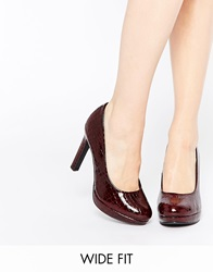 Heeled Court Shoes Deepred