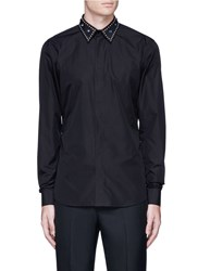 Givenchy Embellished Collar Cotton Shirt Black