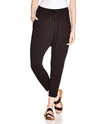 Dkny Pure Drawstring Crop Harem Pants Black
