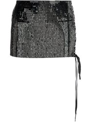 Anthony Vaccarello Sequined Micro Skirt Black