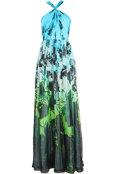 Matthew Williamson Printed Silk Chiffon Gown