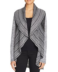 Cupio Mixed Knit Cardigan Heather Charcoal Grey
