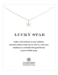Dogeared 'Lucky Star' Pendant Necklace Silver