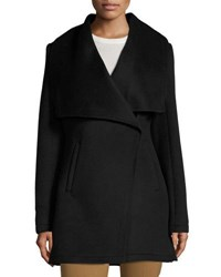 Laundry By Shelli Segal Double Face Wool Blend Coat Black
