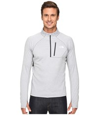 The North Face Impulse Active 1 4 Zip Pullover Tnf Light Grey Heather Asphalt Grey Men's Long Sleeve Pullover Gray