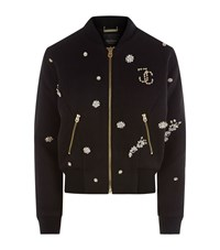 Juicy Couture Embellished Bomber Jacket Female Black