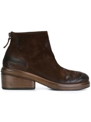 Marsell Marsa Ll Rear Zip Ankle Boots Brown