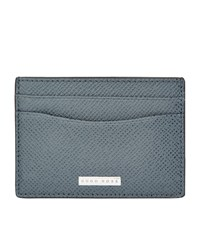 Boss Siganture S Grained Card Holder Unisex Dark Grey