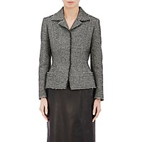 Maison Martin Margiela Women's Bonded Tweed Fitted Jacket Grey