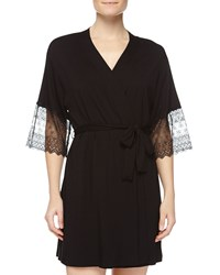 Cosabella Papyrus Short Robe Black