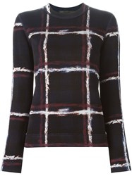 Marc By Marc Jacobs Tartan Print Sweater Blue