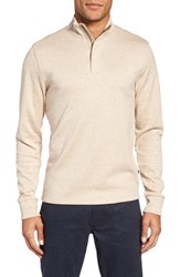 Boss Men's Sidney Quarter Zip Pullover Light Beige