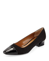 J. Renee Nkalana Micro Suede Low Heel Pump Black