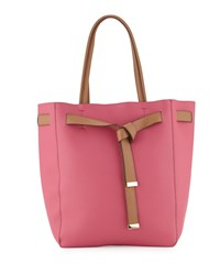 Neiman Marcus Julia Two Tone Slim Tote Bag Fuchsia Pink