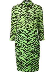 Moschino Cheap And Chic Zebra Print Dress Green
