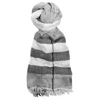 French Connection Distressed Check Scarf Nocturnal Wash