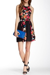 Romeo And Juliet Couture Floral Print Racerback Dress Multi
