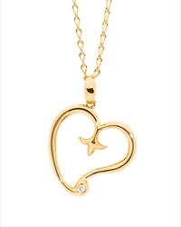 Tamara Comolli 18K Yellow Gold Gypsy Heart Pendant W Diamond