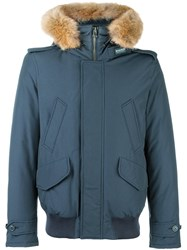 Woolrich Hooded Zip Up Jacket Grey