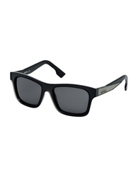 Diesel Square Denim Accented Sunglasses Black
