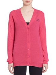 Mcq By Alexander Mcqueen Woolen Swallow Cardigan Iconic Pink