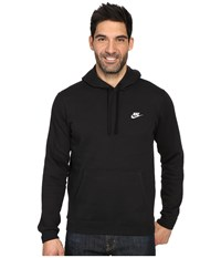 Nike Club Fleece Pullover Hoodie Black Black White Men's Fleece
