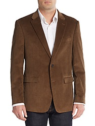 Tommy Hilfiger Regular Fit Corduroy Blazer Dark Khaki