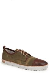 Blackstone 'M 22' Sneaker Dark Green Canvas Bark