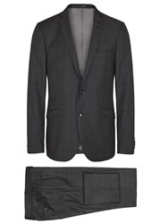 Tiger Of Sweden Harrie Charcoal Checked Wool Suit