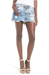 Women's One Teaspoon 'St. Marine Junkyard' Distressed Denim Skirt