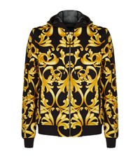 Versace Classic Baroque Mesh Lined Hoodie Male Gold