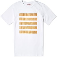 Palm Angels Glitter Five Stripes Tee White