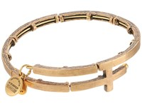 Alex And Ani Cross Metal Wrap Rafaelian Gold Bracelet