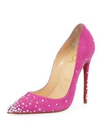 Christian Louboutin Degrastrass Suede 120Mm Red Sole Pump Indian Rose Women's