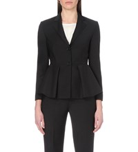 Theory Braneve Fit And Flare Wool Blend Jacket Black