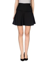 Alysi Knee Length Skirts Black
