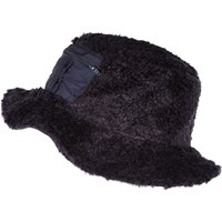 River Island Mens Navy Christopher Shannon Faux Fur Bucket Hat