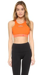 Adidas By Stella Mccartney Climachill Crop Top Radiant Orange