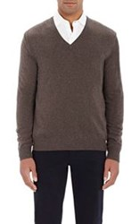 Gran Sasso V Neck Sweater Green
