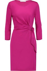 Diane Von Furstenberg Zoe Stretch Jersey Mini Dress Pink