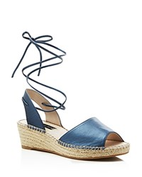 Steven By Steve Madden Isadora Metallic Wedge Sandals Compare At 109 Blue Metal