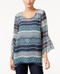 Styleandco. Style Co. Striped Sheer Top Only At Macy's Fortune Floral