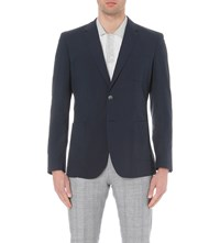 Reiss Proud Modern Fit Cotton Blazer Navy
