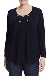 Persona By Marina Rinaldi Plus Size Women's Varano Embellished Pleat Front Top