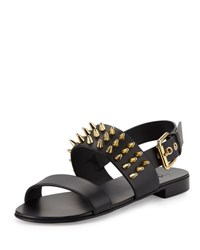 Giuseppe Zanotti Men's Studded Leather Strap Sandal Black