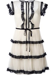 Red Valentino Layered Frill Dress Nude Neutrals
