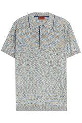 Missoni Knit Polo Shirt Green