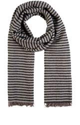 Destin Men's Striped Woven Scarf Black